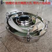 衛生級銑槽吊環式橢圓帶內六角法蘭視鏡人孔