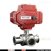 VT2DEN33A电动三通快装卫生级分流球阀