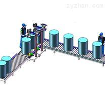 半自動大桶稱重式灌裝生產線