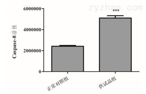 利用斑马鱼模型评价对caspase的诱导作用