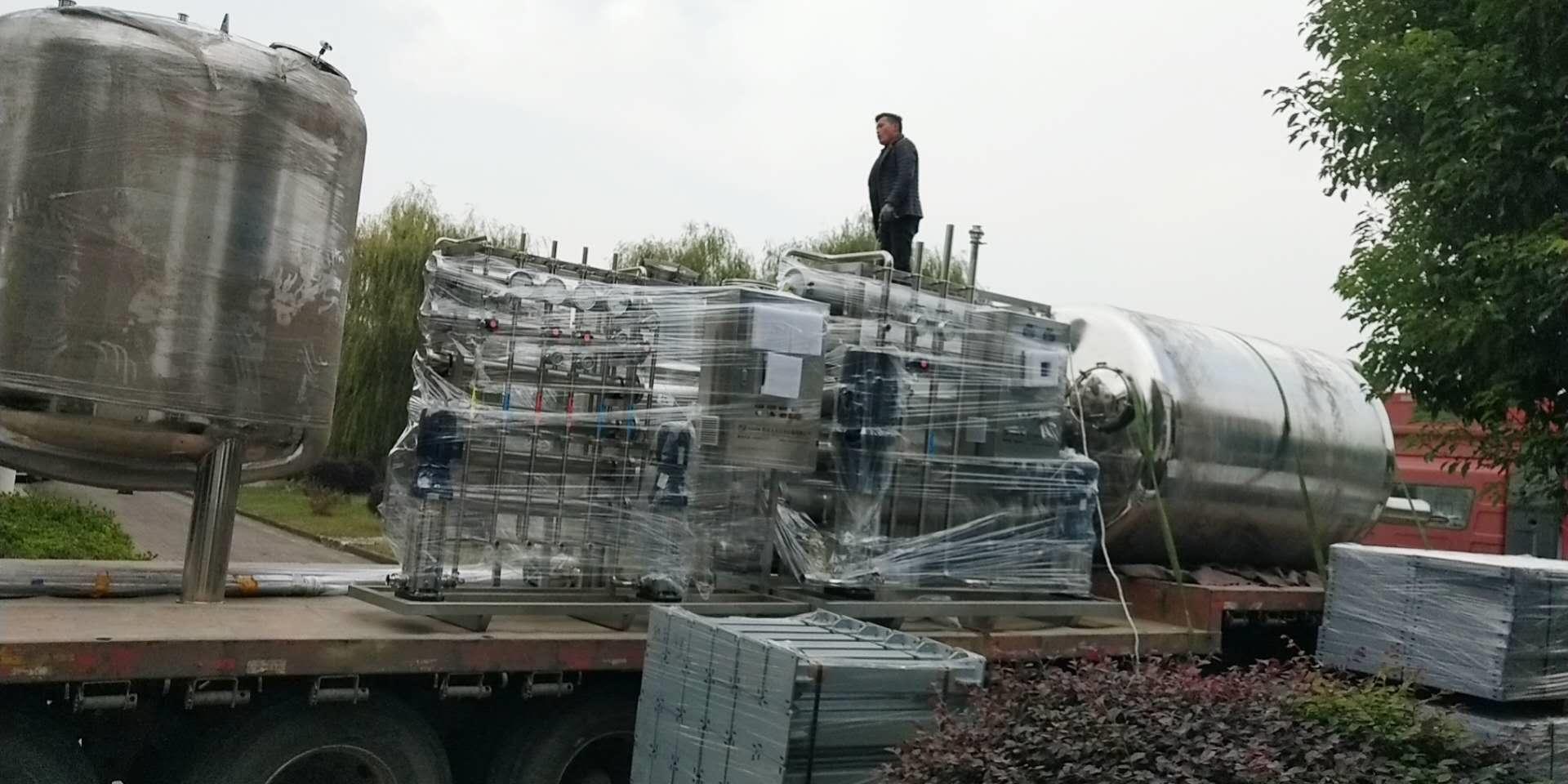 10T纯化水设备正在上货,发往湖北!