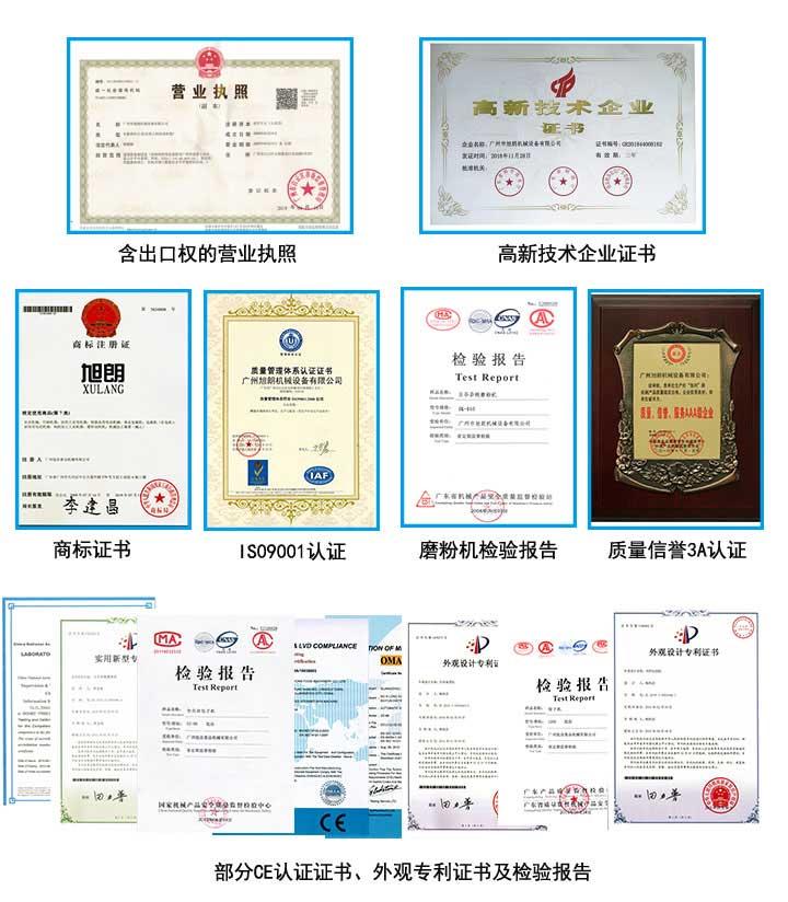 旭朗机械荣誉证书